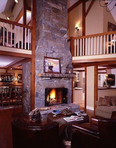Warm fire place looks beautiful