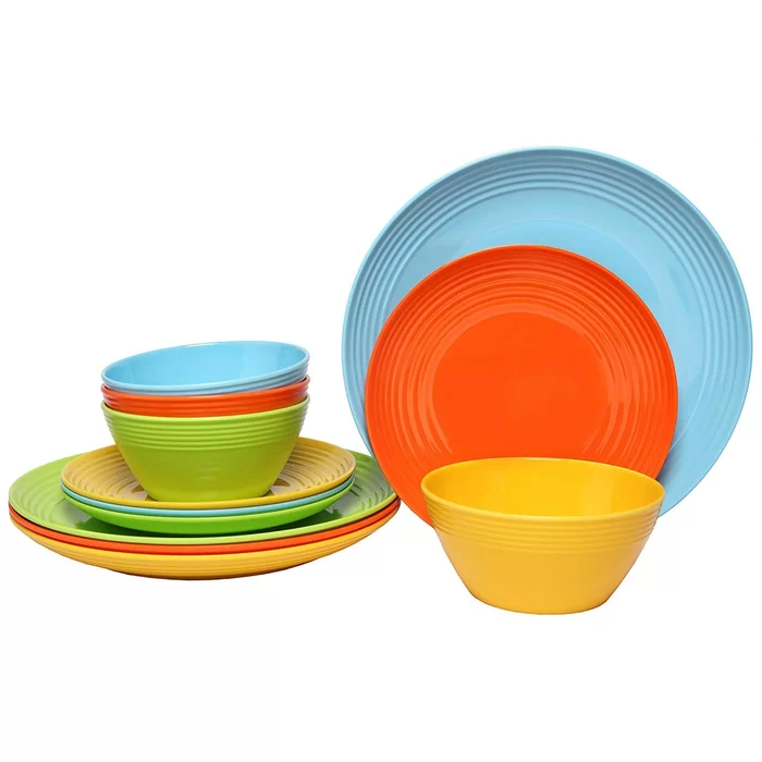 Solids 36 Piece Dinnerware Set Service For 12 In 2021 Melamine Dinnerware Sets Outdoor Dinnerware Melamine Dinnerware Service for 12 dinnerware sets