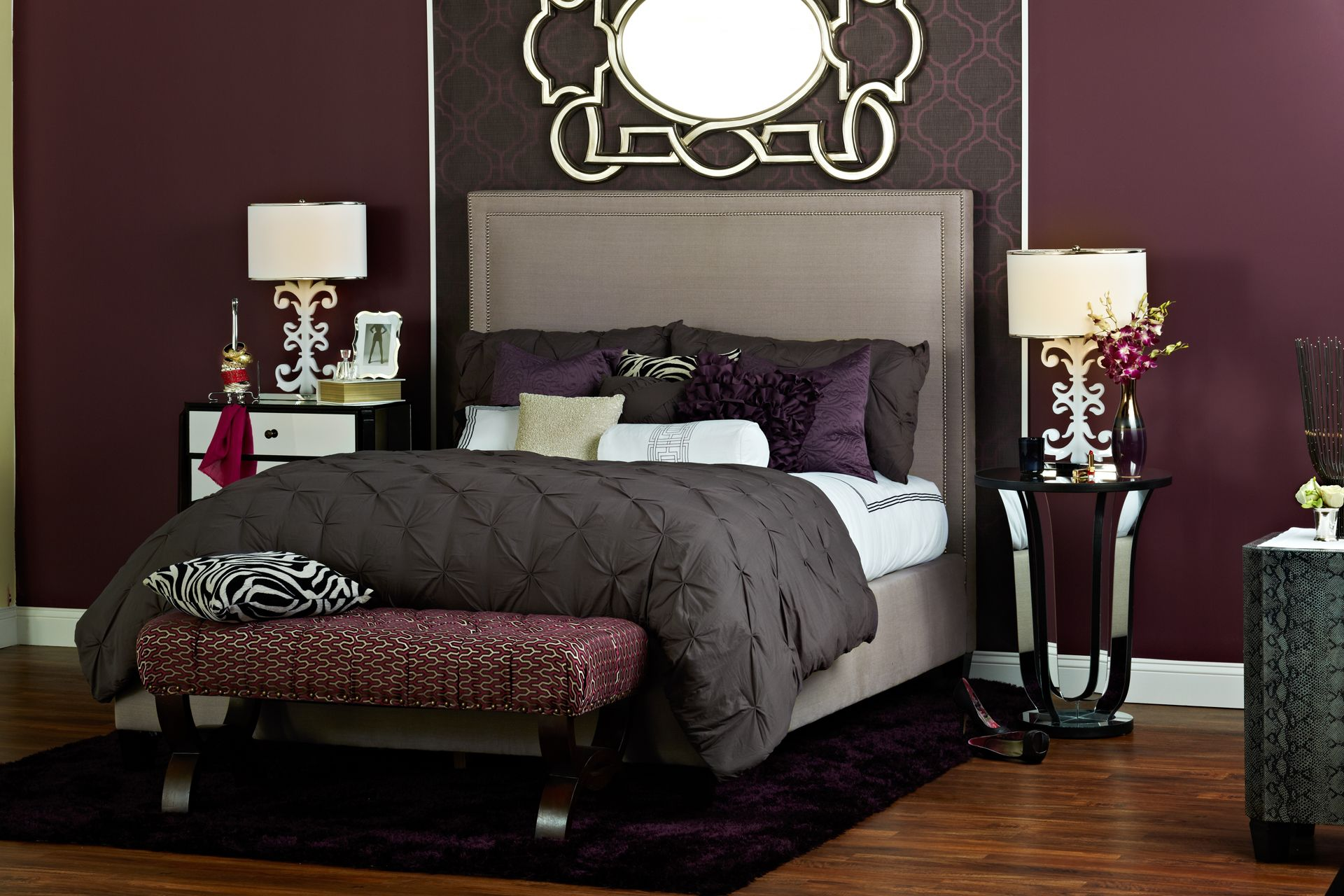 A bedroom fit perfect for a socialite take the homegoods - Interior design quiz personality ...