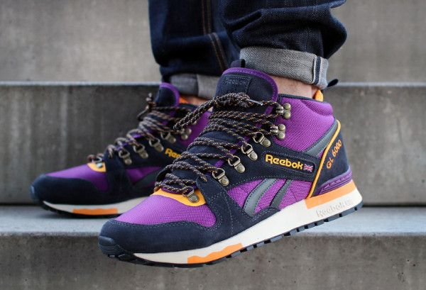Reebok Black Gl 6000 Mid & Purple Sneakers UCV835687