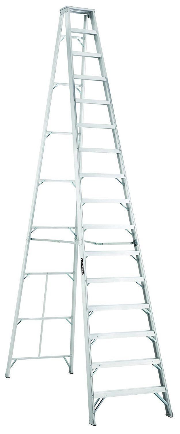 Louisville Ladder As1016 300 Pound Duty Rating Aluminum Stepladder 16 Foot Step Ladders Ladder Wood Step Stool