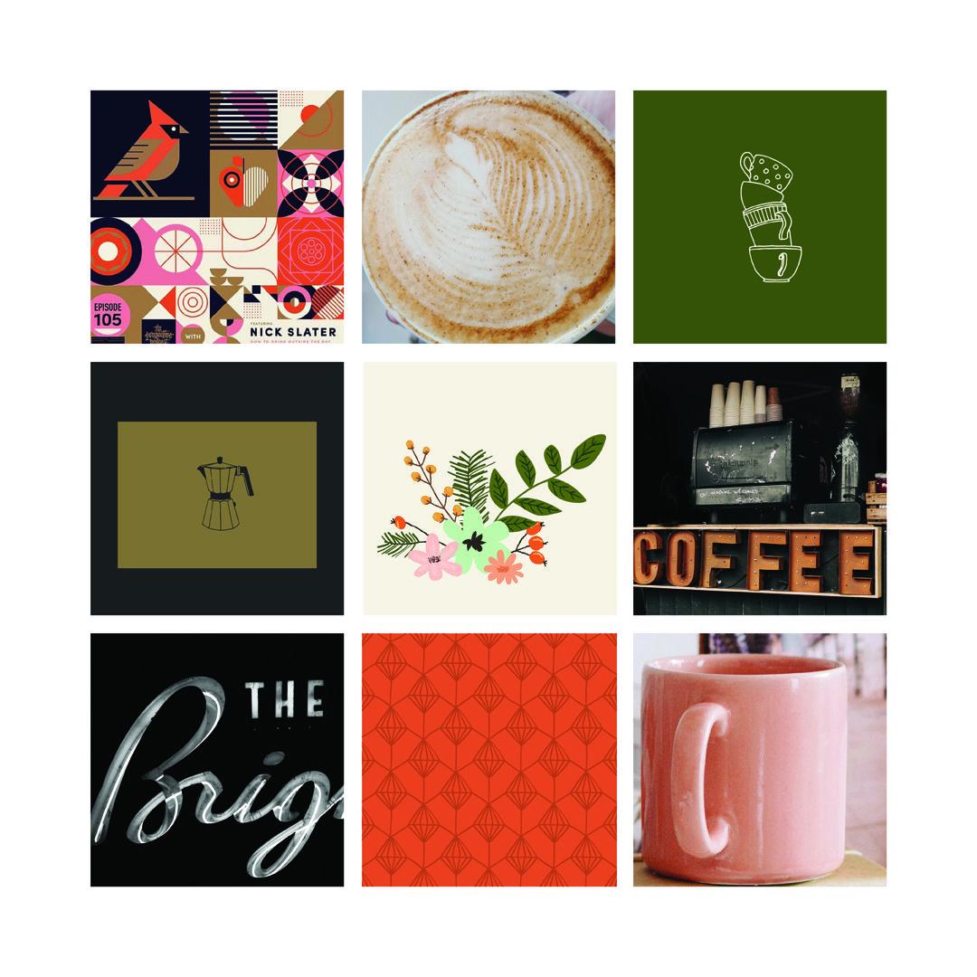 Kaffee Moodboard Als