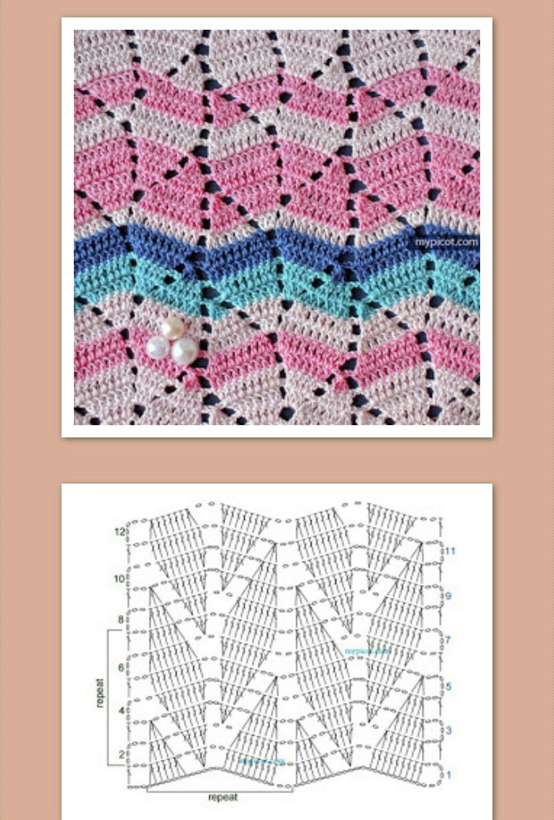 Photo Pattern Crochet Pinterest Patterns Diagrams For Stitch Crotchet Stitches My Picot