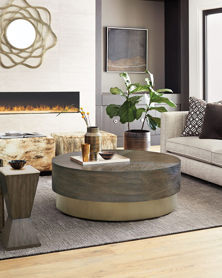 Bernhardt Profile Round Coffee Table In 2020 Coffee Table Round