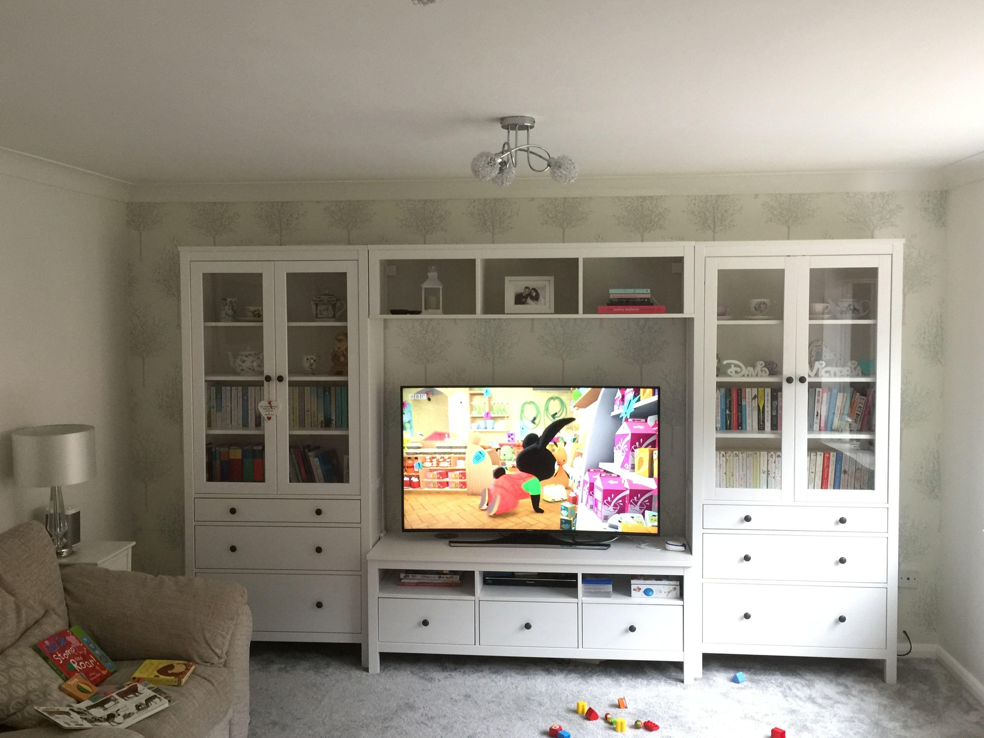 ikea hemnes media tv unit cabinet storage  ikea hemnes