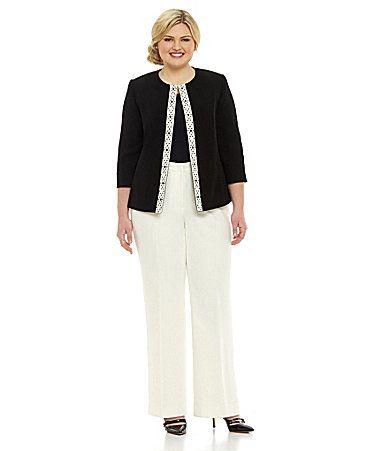 Tahari By Asl Woman Pant Suit Dillards Carly Pinterest