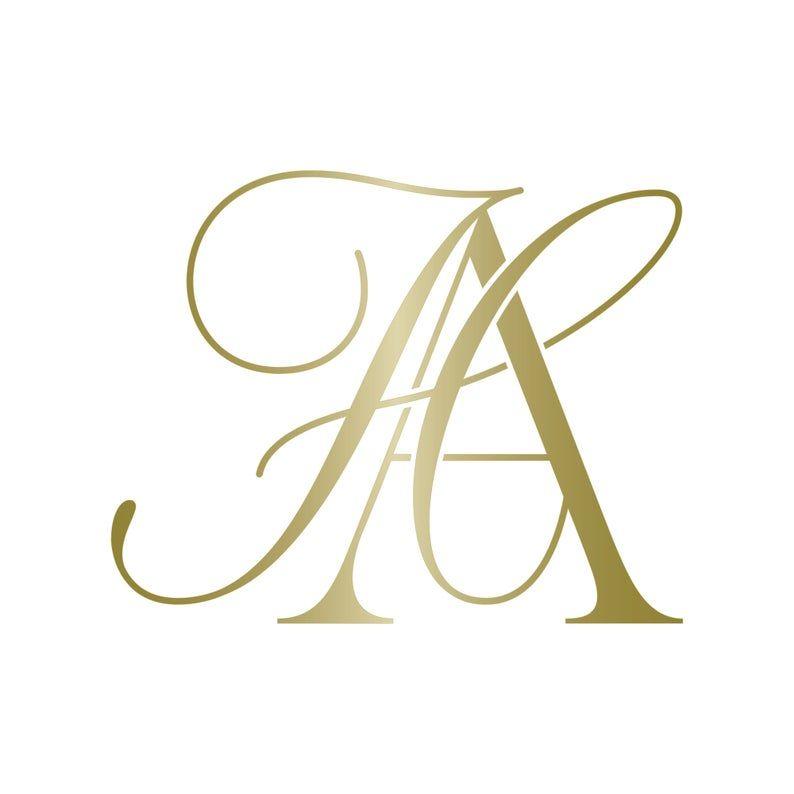Feminine Logo Elegant Logo Business Logo Design Ha Ah In 2020 Monogram Logo Design Elegant Logo Wedding Logo Monogram