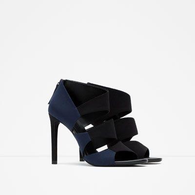 Sandalia Tacón Bicolor Mi MujerZara Zapatos Debilidad NX8Onw0Pk