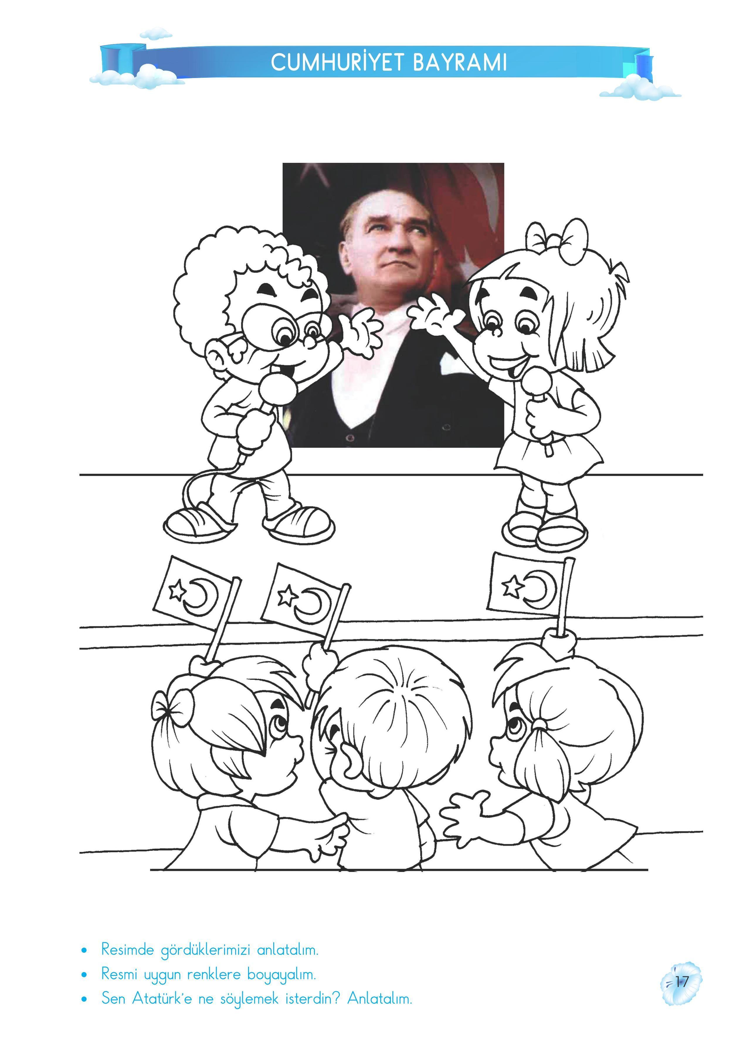 Atatürk Ve Cumhuriyet Bayramı Etkinlik Pinterest School