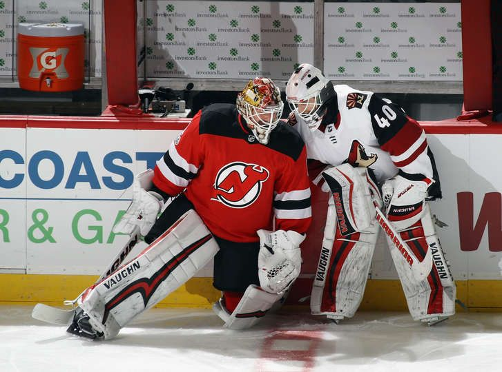 on sale dd7a8 f8b49 NEWARK, NJ - OCTOBER 28: Keith Kinkaid #1 of the New Jersey ...