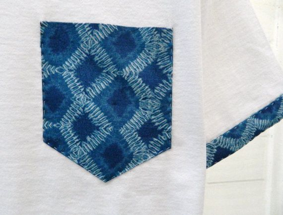 Men's Denim Blue Geometric Pattern With Sleeves by HeartLabelTees