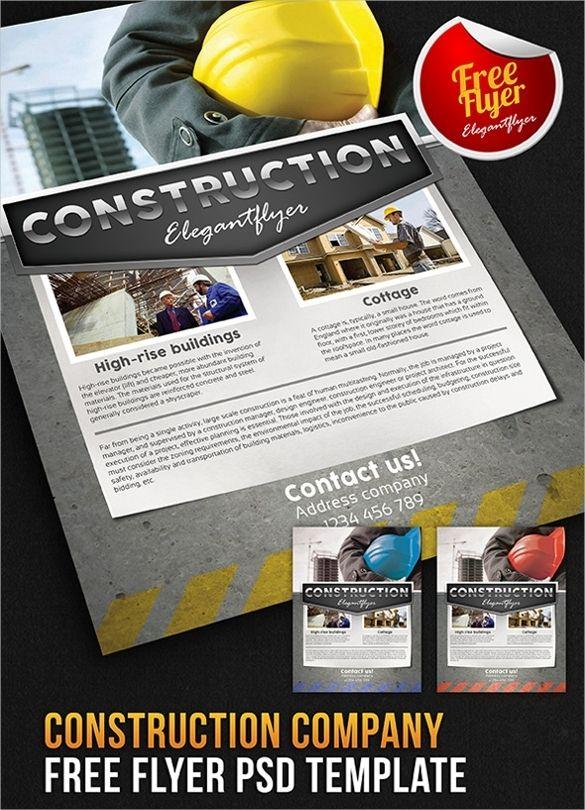 concrete flyer templates