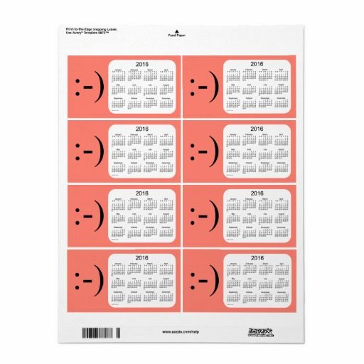 2016 Salmon Calendar by Janz Label Shipping Label !!Pinwoot - shipping label