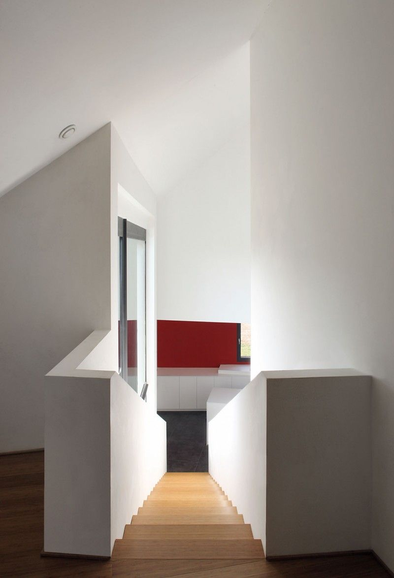Tsl House by Adn Architectures | Wooden staircase design, Three ...