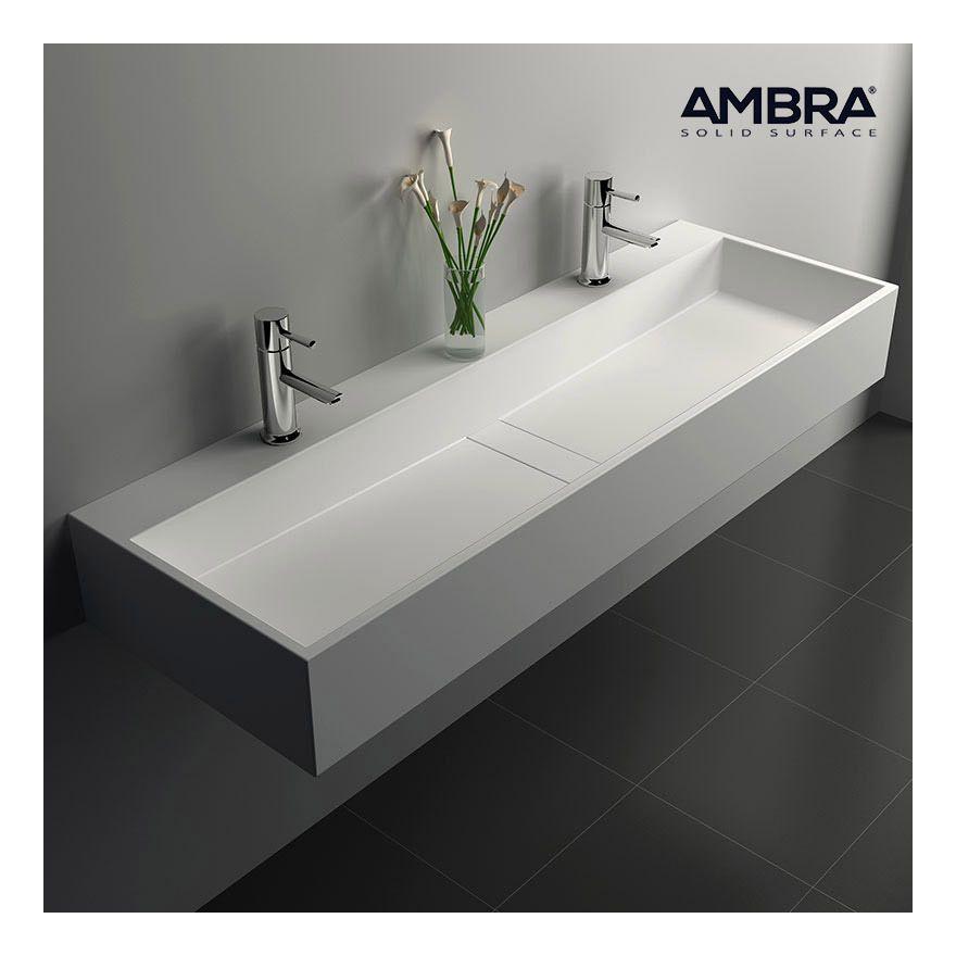 vasque 120 cm suspendue ou poser en solid surface valencia vs ss 1024 plomberie. Black Bedroom Furniture Sets. Home Design Ideas