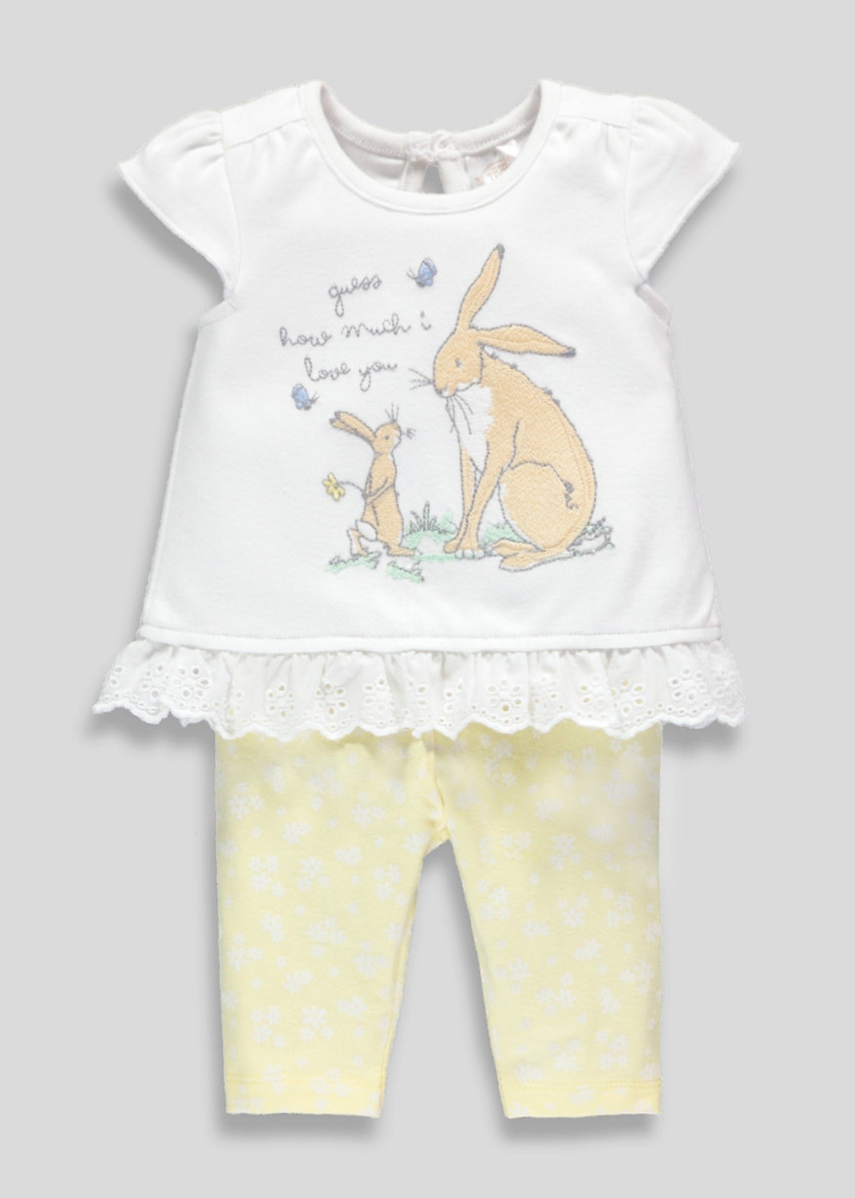 NEW Baby Neutral Guess How Much I Love You White Layette Clothing Book Gift Set