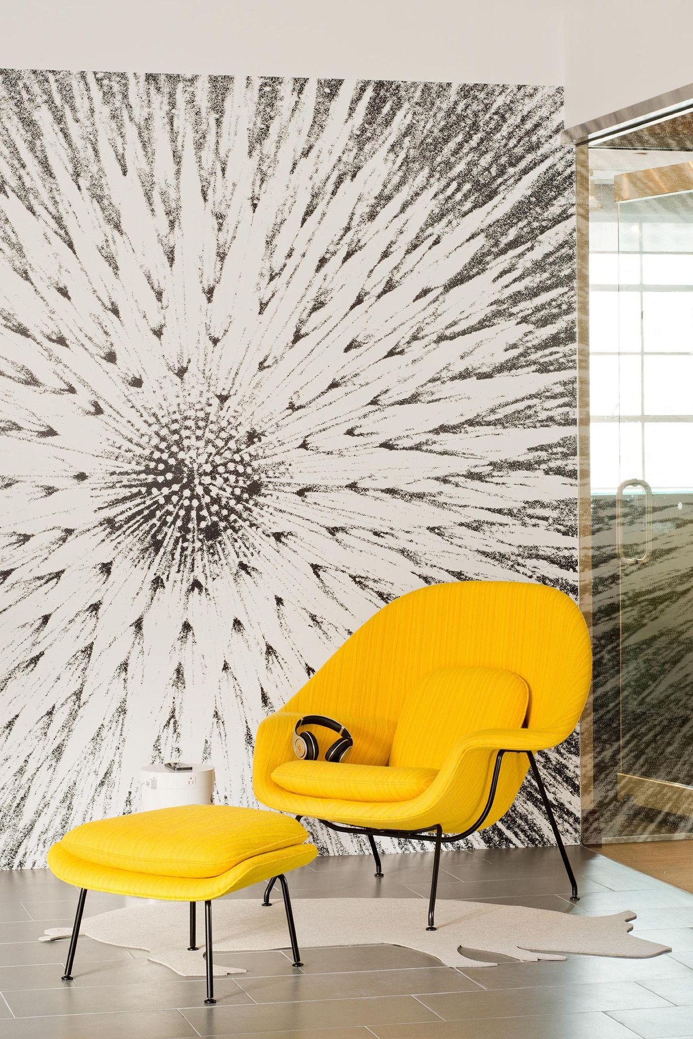 Yellow Saarinen Womb Chair   Simple, Bold
