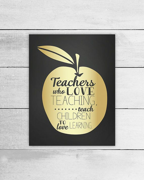 Printable Art for Teacher, Apple, Quote about Teaching, Children ...