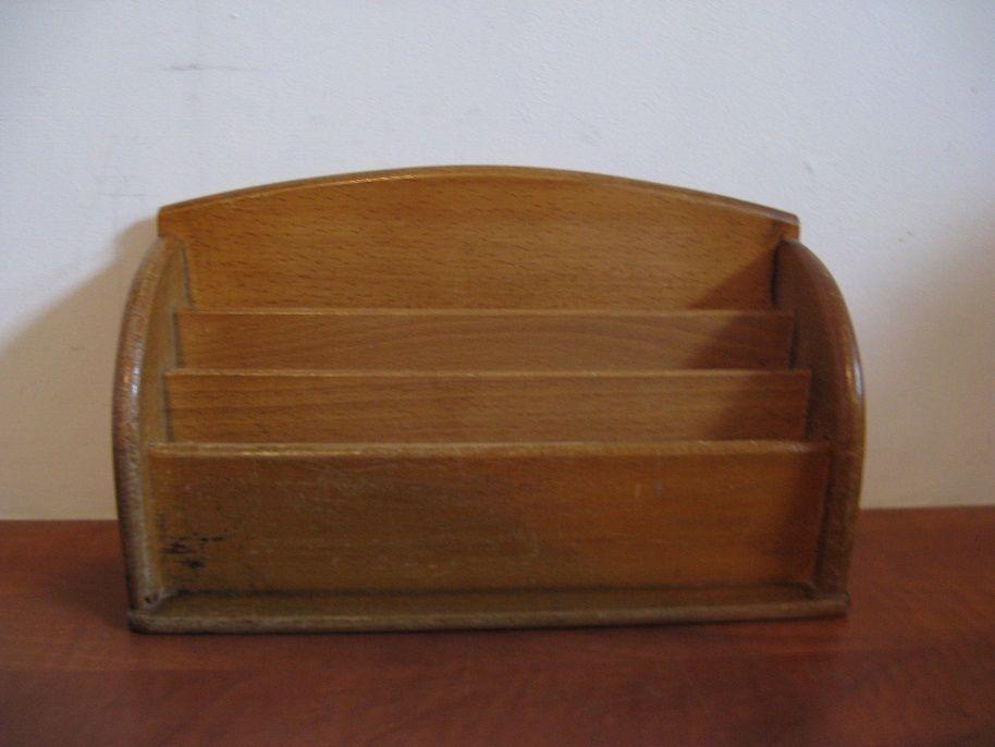 Old wooden Letterbox Rack 3 bin c.40/50's...