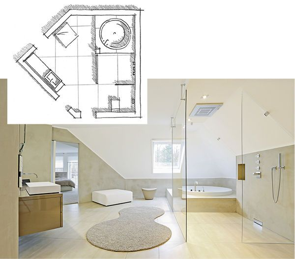 Affordable Grosszgiges Bad Mit Dachschrge Googlesuche Bad Moodboard  Dachschrge Badezimmer With Badezimmer Mit Schrge