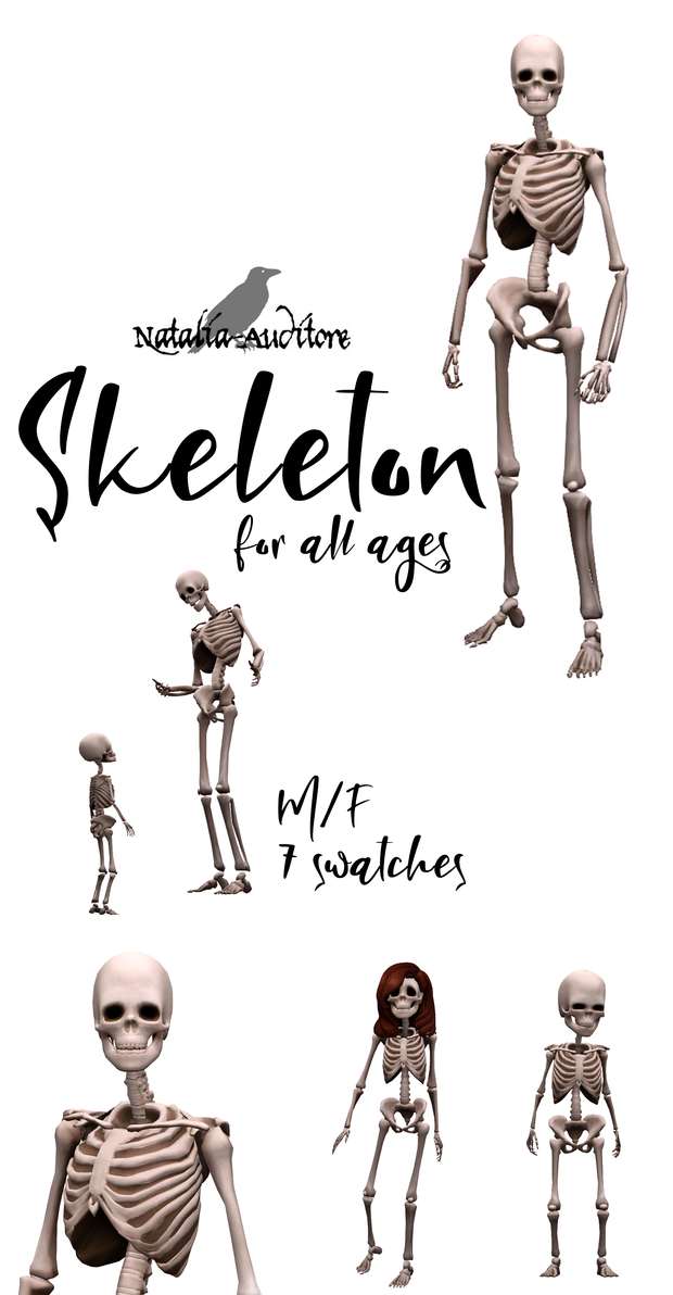 Skeleton For All Ages Natalia Auditore On Patreon Sims 4 Characters Sims 4 Anime Sims 4