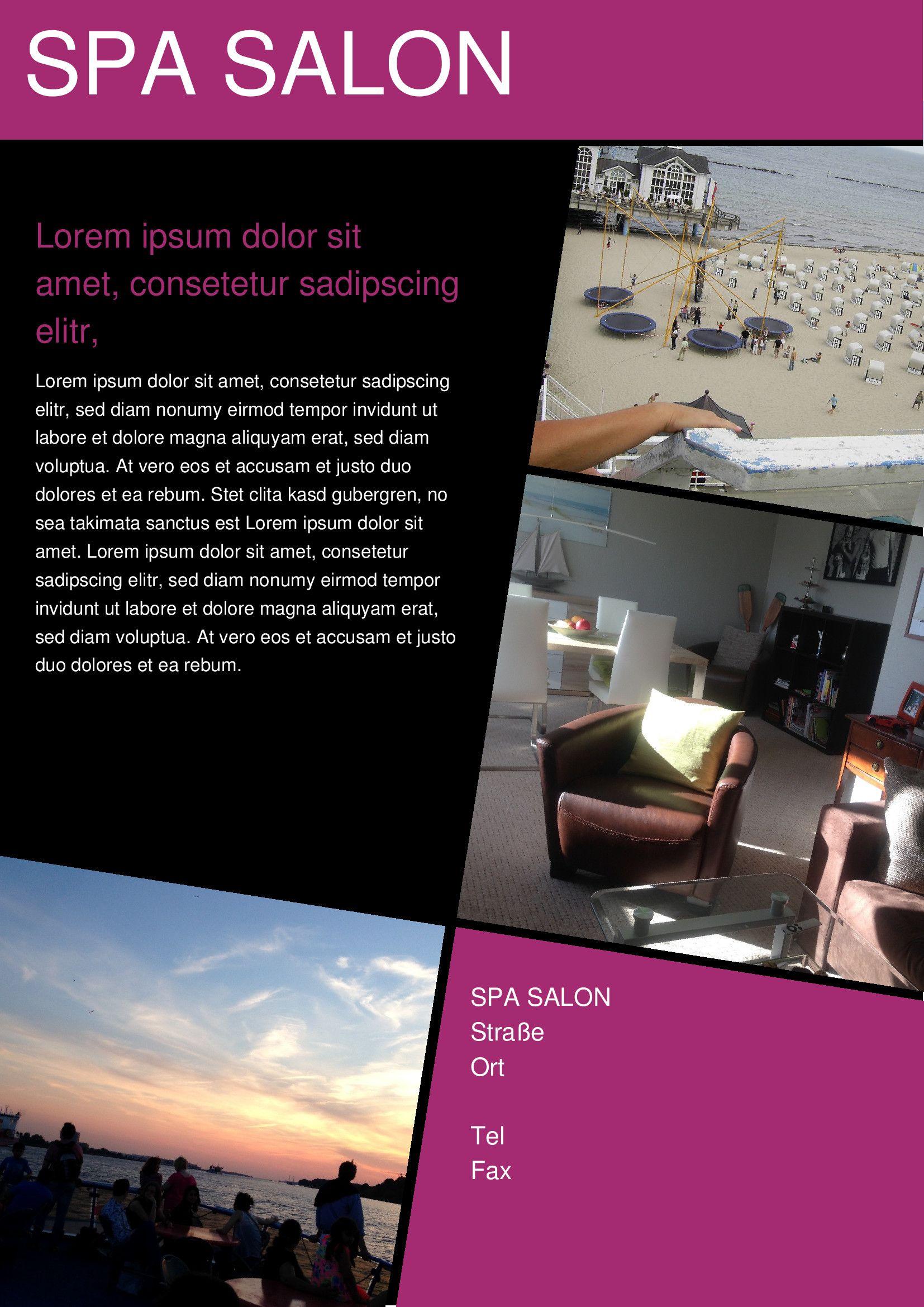 Beauty Salon Brochure Template ... a4 brochure, balyaj, barber ...