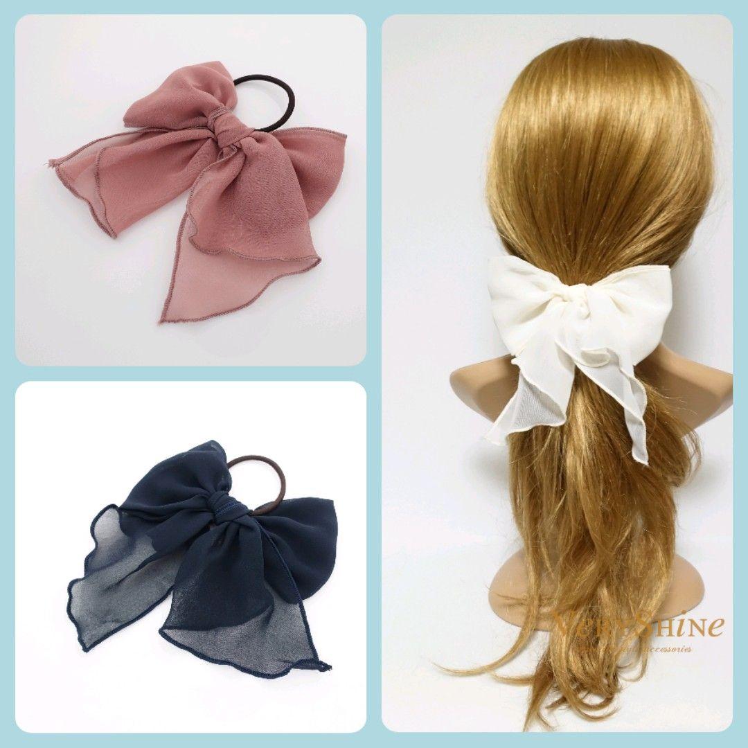 Women Headband Cosplay Headdress Lace Ribbon Bowknot Cute Hair Band Hair Girls