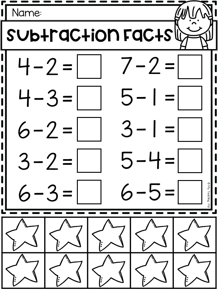 Subtraction Worksheet To 10 With Counters Kindergarten Worksh Kindergarten Math Worksheets Addition Subtraction Worksheets Addition And Subtraction Worksheets