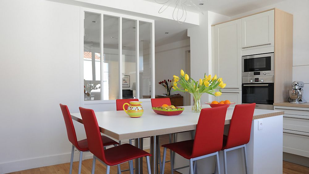avant apr s agrandir une cuisine contemporaine m6 cuisine pinterest cuisines. Black Bedroom Furniture Sets. Home Design Ideas