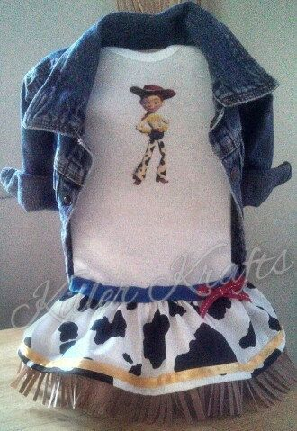 Toy Story Jessie inspired baby girl outfit by killerkrafts on Etsy