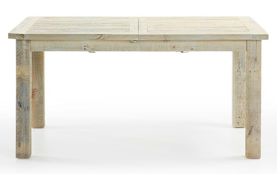 Mesa de comedor extensible colonial hycks material madera for Muebles con material reciclado