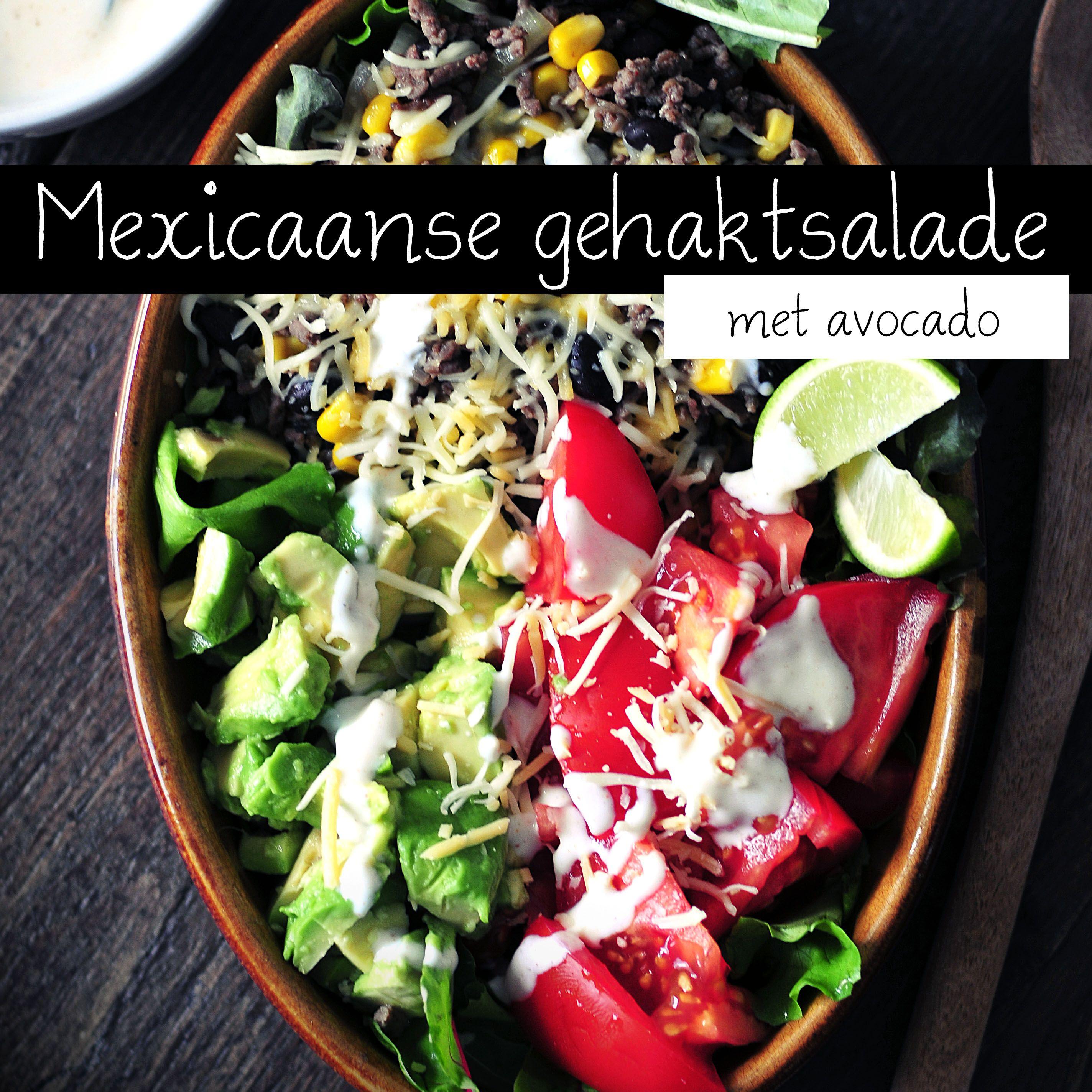 Mexicaanse gehaktsalade met avocado-Voedzaam & Snel