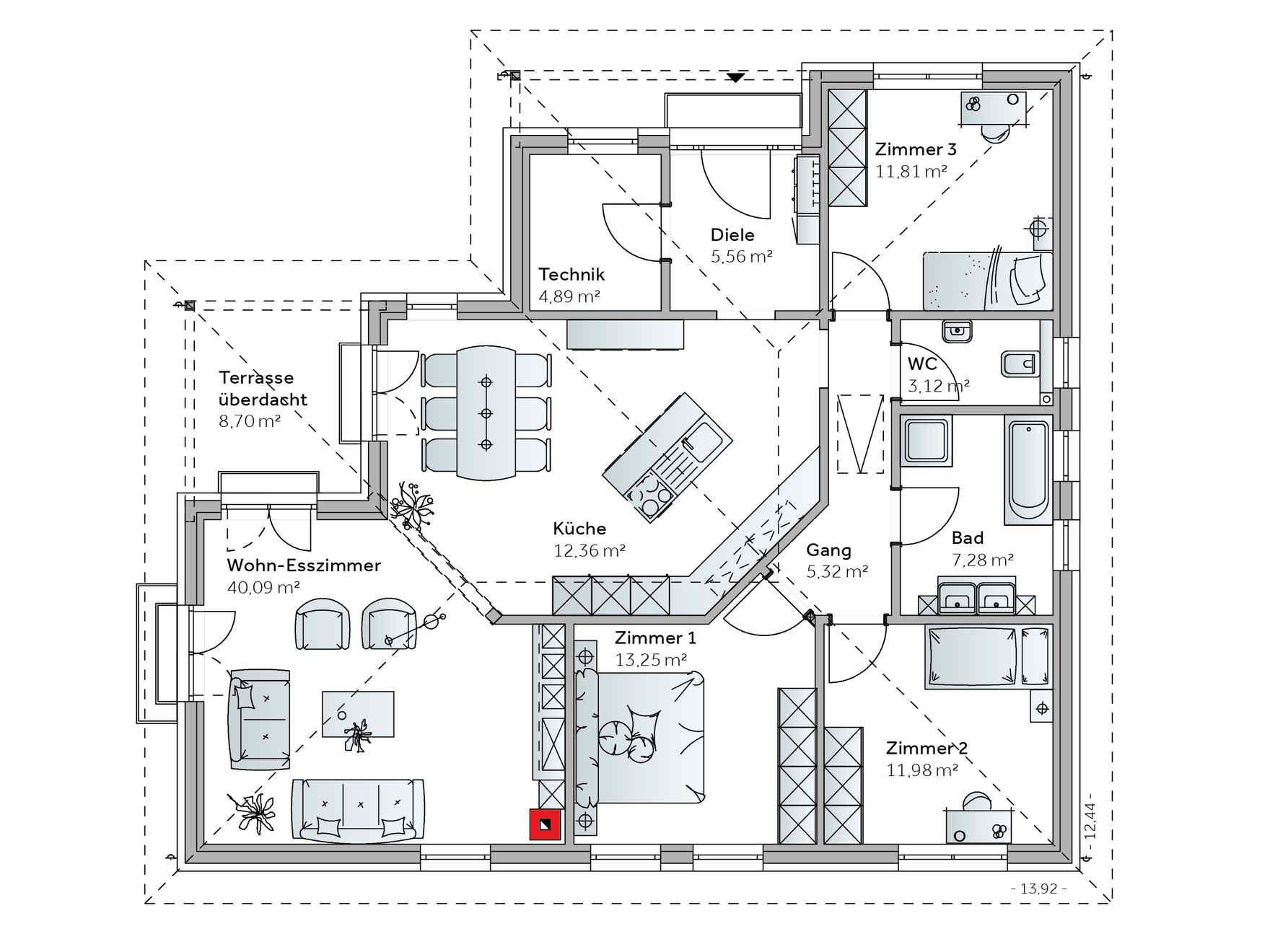 fertighaus bungalow we136 pl ne haus pinterest fertighaus bungalow fertigh user und. Black Bedroom Furniture Sets. Home Design Ideas