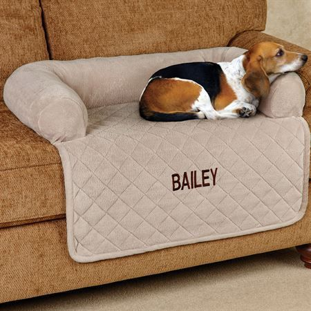 Microplush Quilted Pet Cover With Bolster