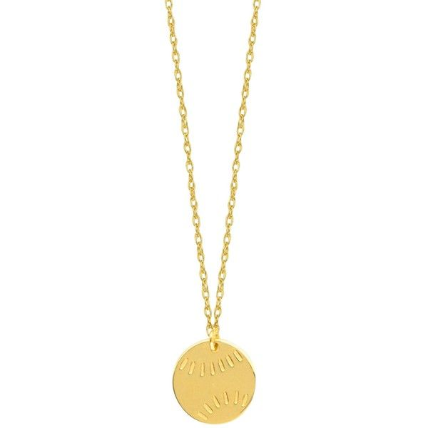 14k yellow gold mini baseball necklace 16 to 18 inches adjustable