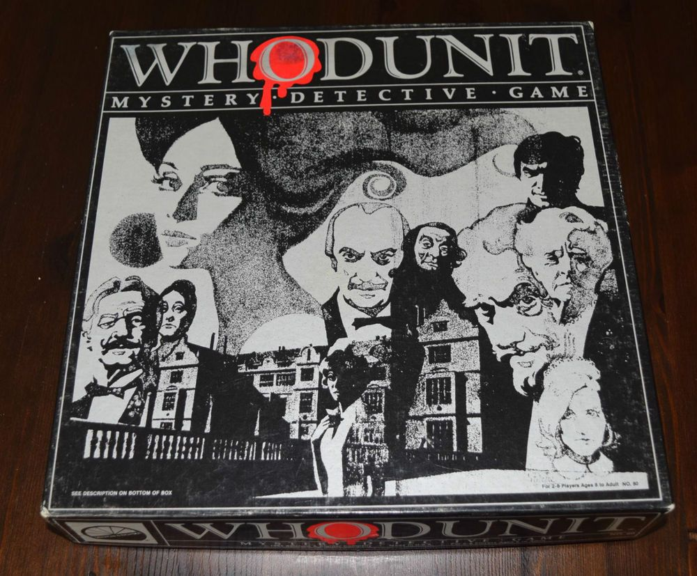Whodunit Mystery Detective Board Game 1985 100 COMPLETE