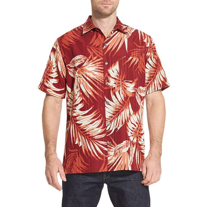 033954a8 Van Heusen Air Sandwashed Printed Camp Short Sleeve Button-Front Shirt