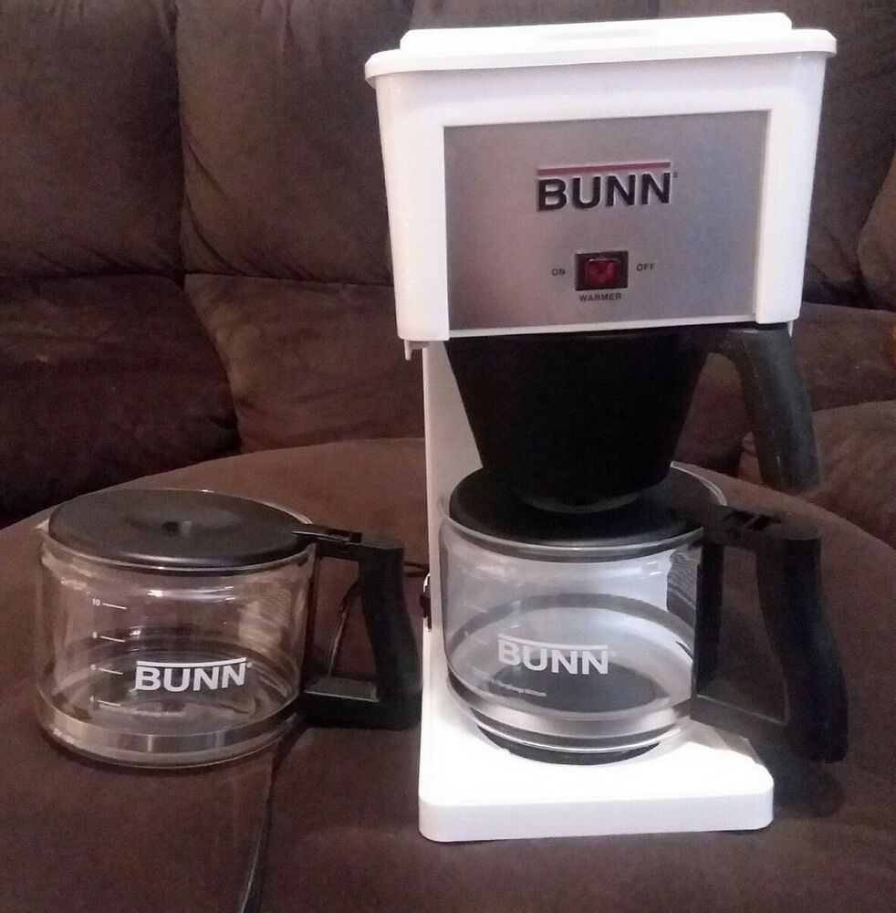 Bunn Grx W 10 Cup Coffee Maker White Extra Carafe Cleaning Tool