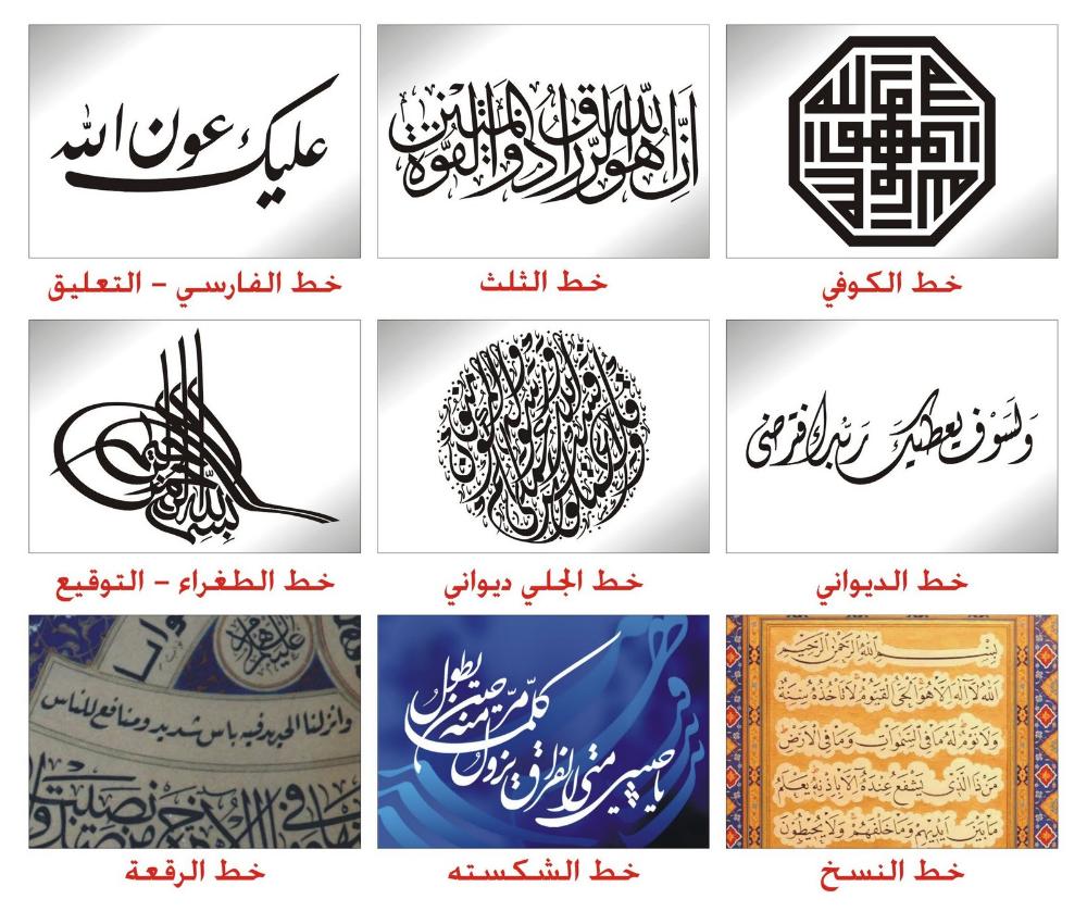 بالشرح والصور أنواع الخط العربي وأشكاله المرسال Fonts