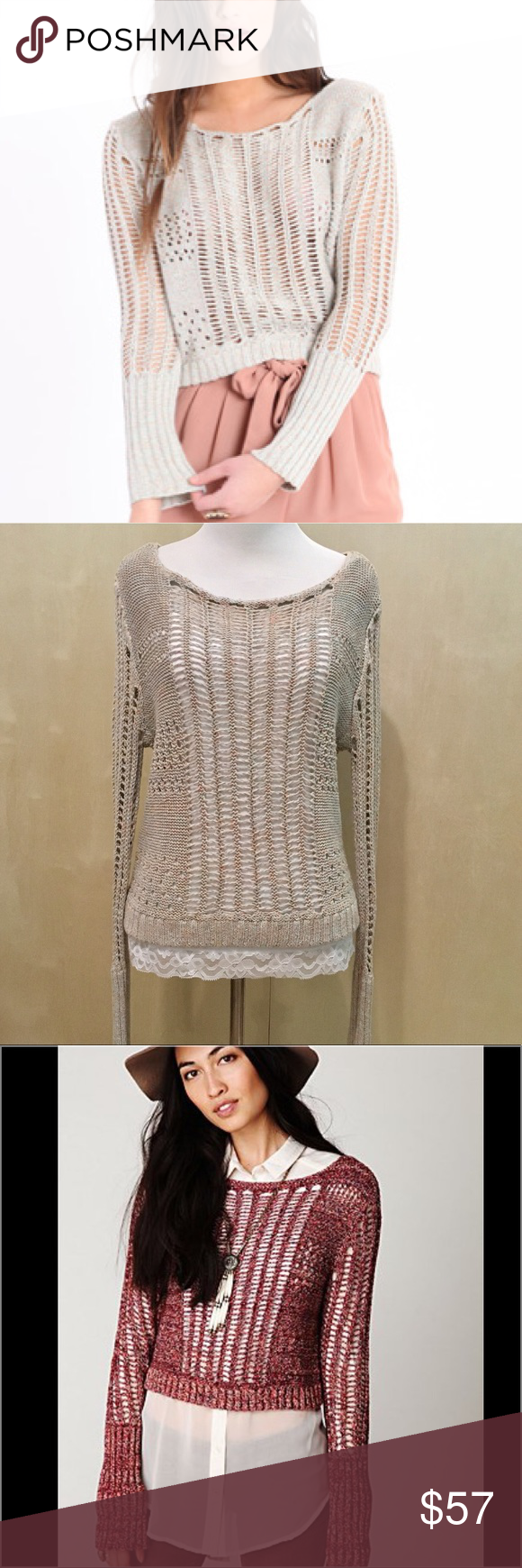 Layered Sweater Blouse Combo Anlis