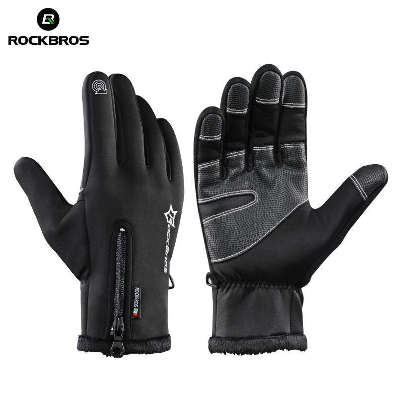 Winter Warm Windproof Waterproof Anti-slip Thermal Men// Women Bike Ski Gloves