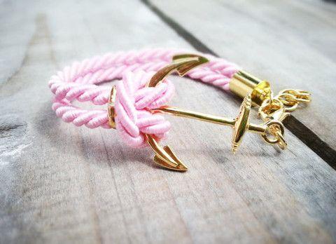 Pink Nautical Anchor Bracelet GIMME!!!