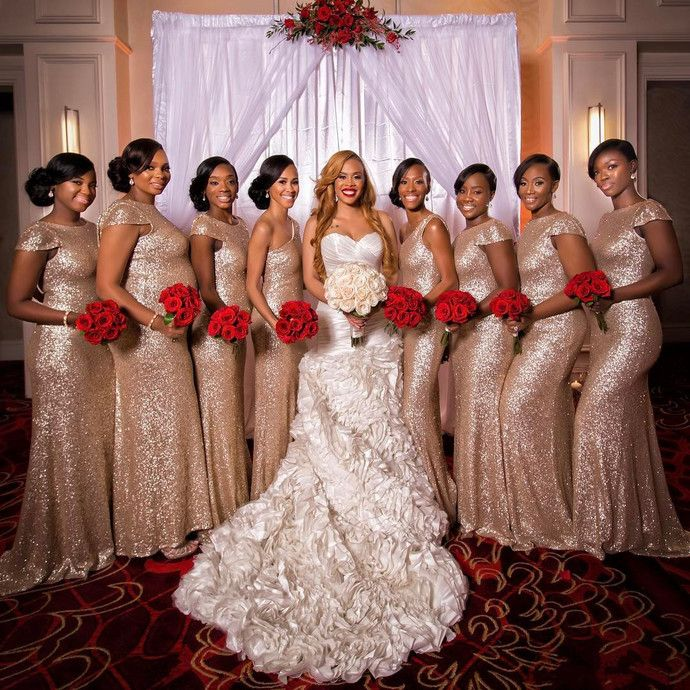 Rose Gold Bridesmaid Dresses Mermaid Bridesmaid Dresses Wedding