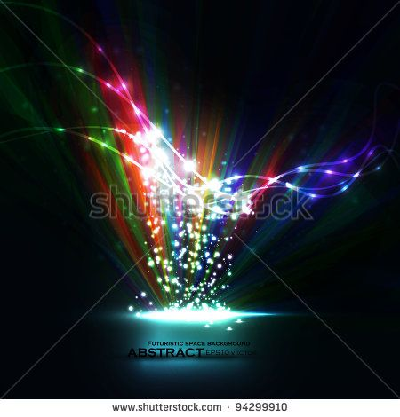 Abstract vector eps10  Creative dynamic element, light lines