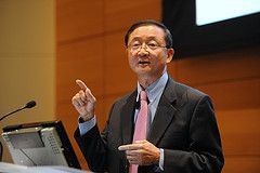 Michael (Myeong Kyu) Ahn, President and CEO of LG Electronics North American Headquarters, speaks at Wharton on November 18, 2010 as part of the Wharton Leadership Lecture Series.