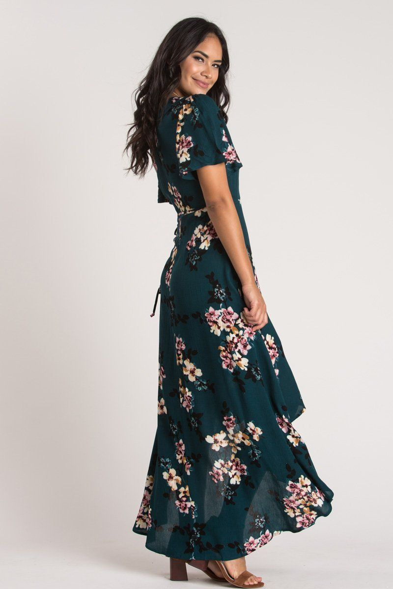 Renee Green Floral Maxi Dress Morning Lavender Cute Maxi Dress Maxi Dress Green Floral Dress Wedding Guest,Indo Western Dresses For Wedding Reception