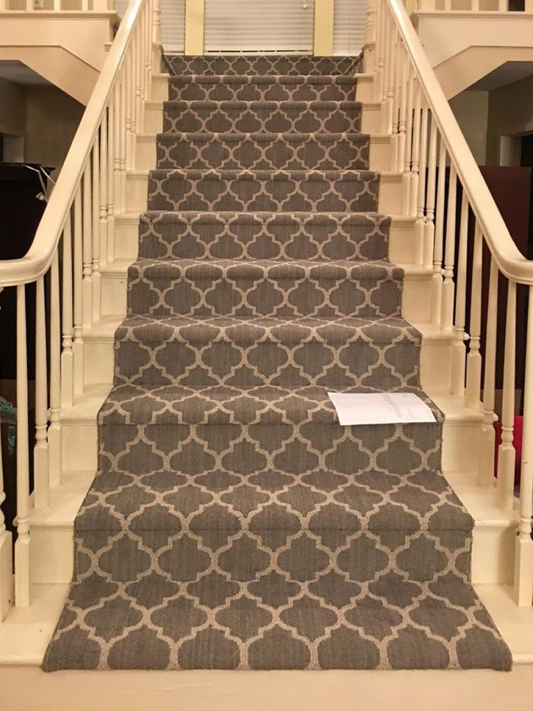 Stair Carpeting Installation Guide And Tips Carpettogo In 2020 Patterned Stair Carpet Carpet Stairs Stairs