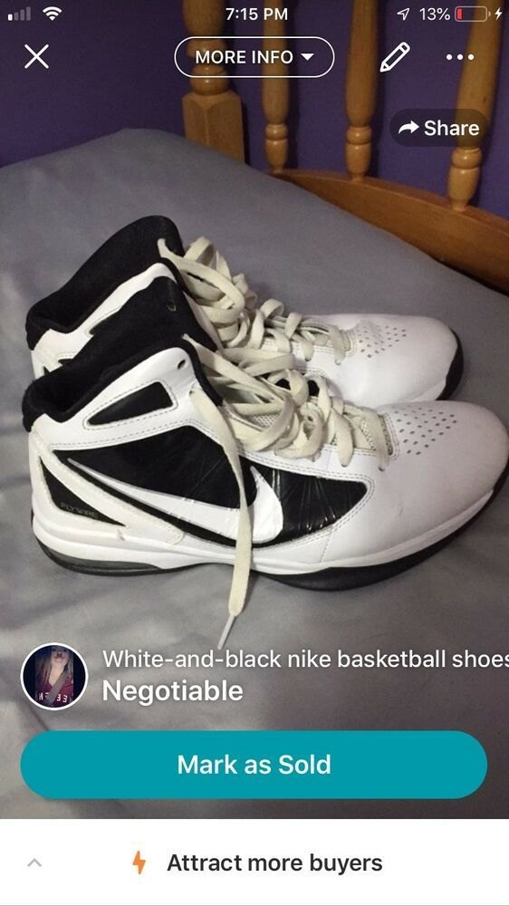 c15998a499d8 MENS NIKE FLYWIRE BASKETBALL SHOES SIZE 10 WHITE BLACK  fashion  clothing   shoes  accessories  mensshoes  athleticshoes (ebay link)