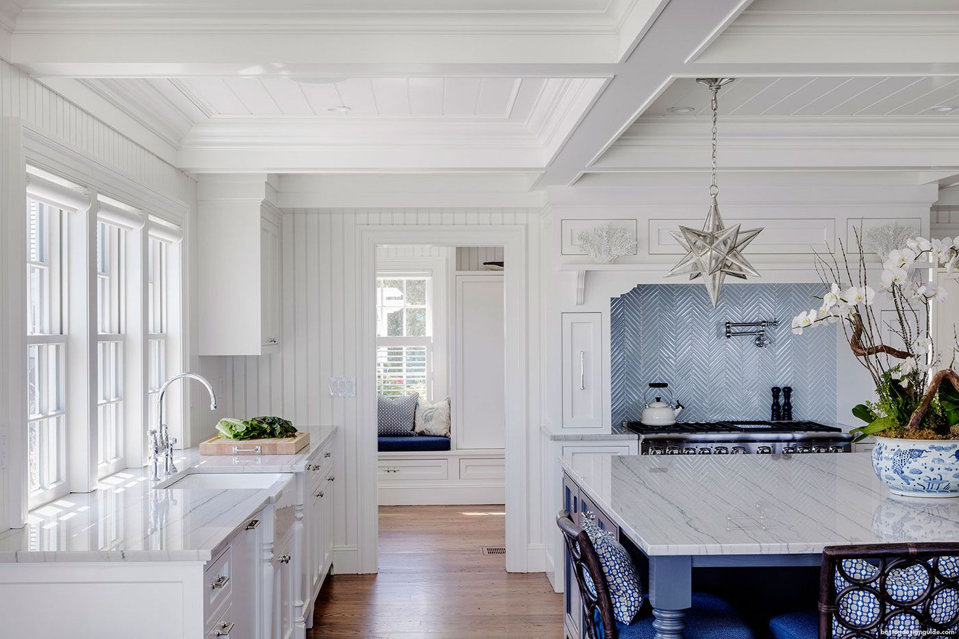 Best Blue And White High End Kitchen Patrick Ahearn Architect 400 x 300
