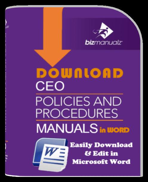 9 Manual Ceo Company Policies And Procedures Bundle Save